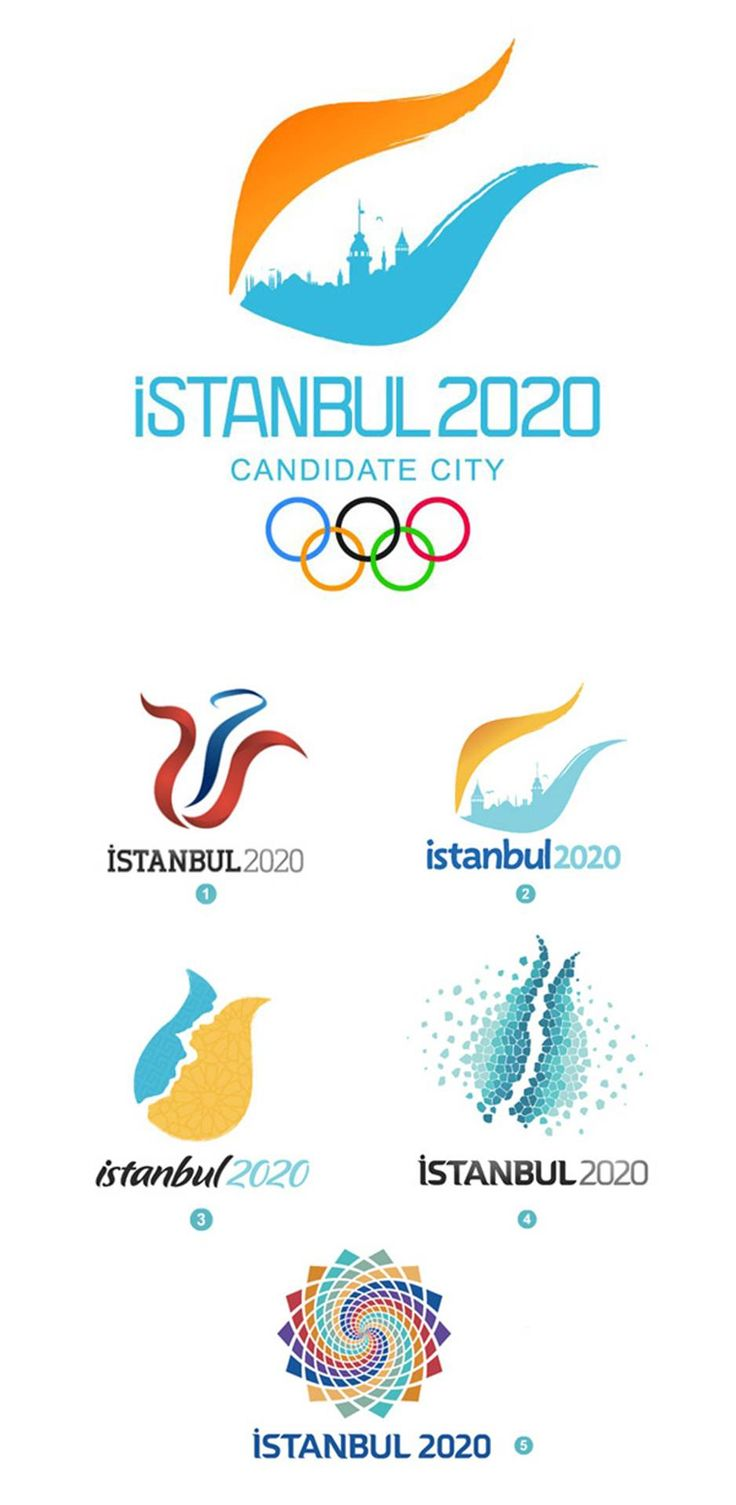 Istanbul Candidate Logo Designs for 2020 Olympics