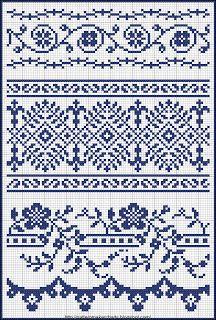 Ponto cruz ... ~»~ x-stitch, <3 2 try! . . nice  for detail on clothing. . .