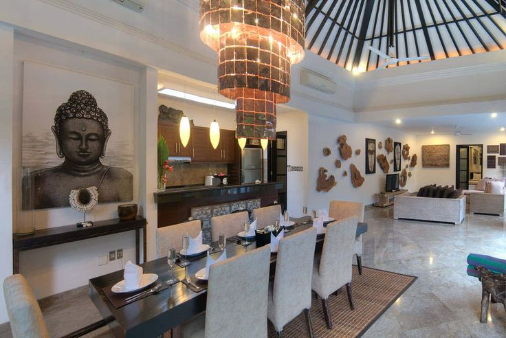 Bali Villa Photography - Residence Seminyak - living and dining room views late afternoon