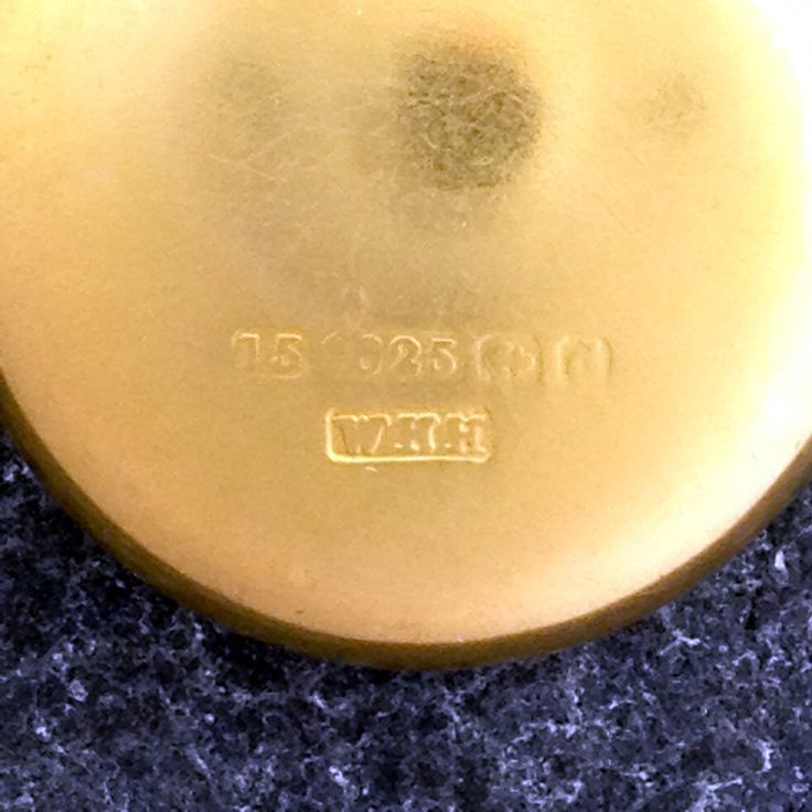 The Marks For 15ct Gold William Hair Haseler Birmingham