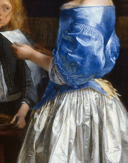 paintings-details:    Gerard ter Borch, The Letter  c.1660-1665