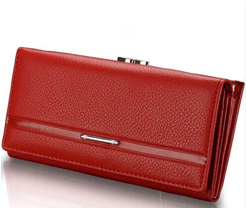 ASDS Fashion PU Leather Wallet Women's Clutch Long Design Clip Wallet Clutch Change Purses Carteira Feminina Women Purse