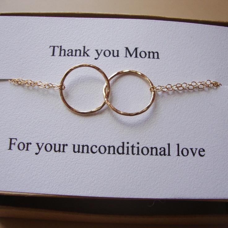 Eternity Bracelet & Card Set - Interlocking links, Endless,Karma Halo bracelet, Lovely Gift,Mother of the Bride or Groom, Wedding Gift. $34.00, via Etsy.