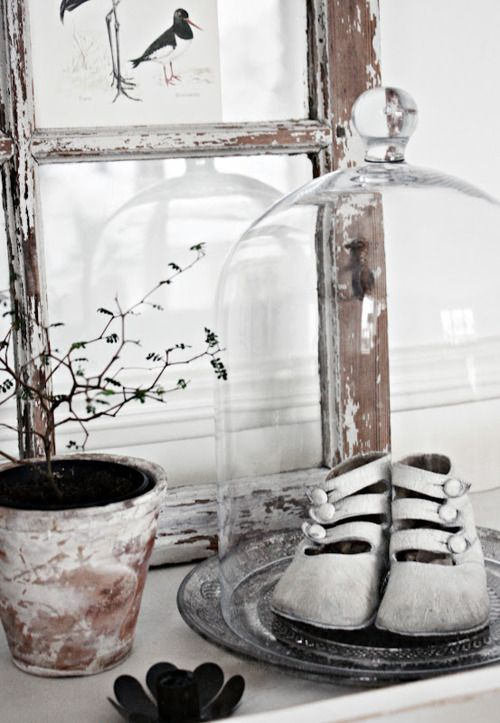 shoes in bell jar