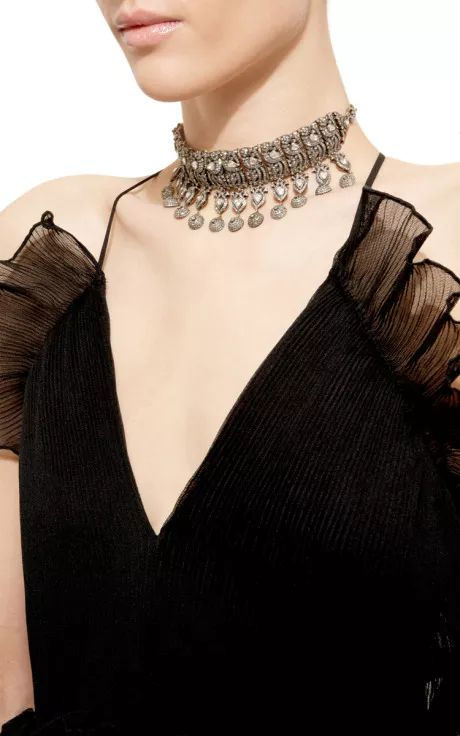 One Of A Kind Tiered Diamond Choker by Amrapali for Preorder on Moda Operandi
