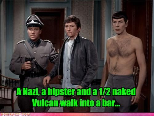 greenskingetsmeintowarpspeed:  one of the best Star Trek episodes! Spock and Kirk help defeat the nazi army in WWII.