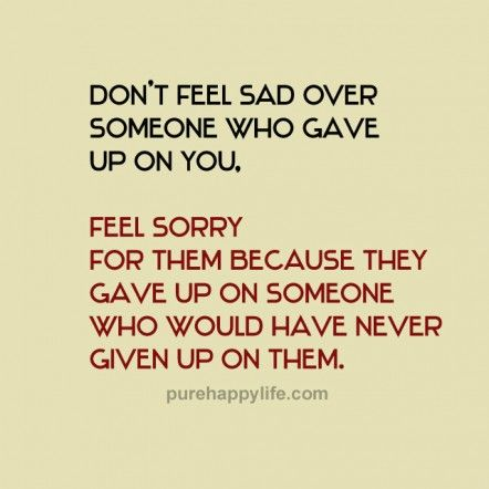 #quotes - Don't feel sad over...more on purehappylife..com