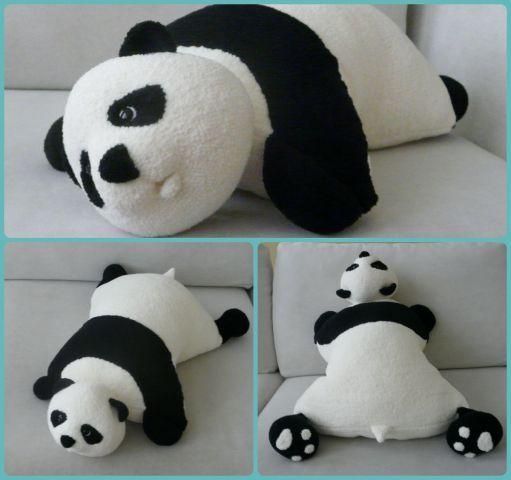 Подушка-панда. - С душой..для души... - Галерея - Форум почитателей амигуруми (вязаной игрушки)