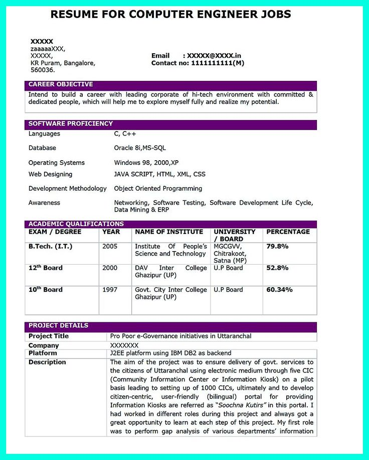 The Perfect Computer Engineering Resume Sample to Get Job