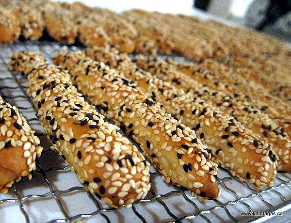 Kritsinia - Greek sesame covered bread sticks