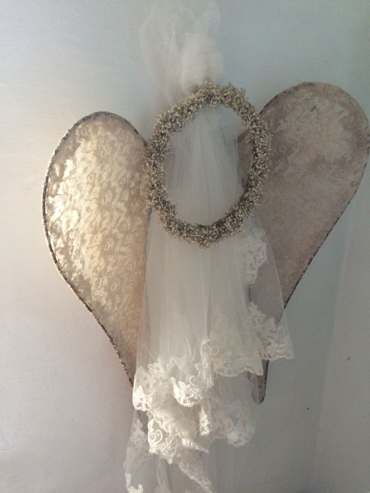 My wedding viel and Angel wings