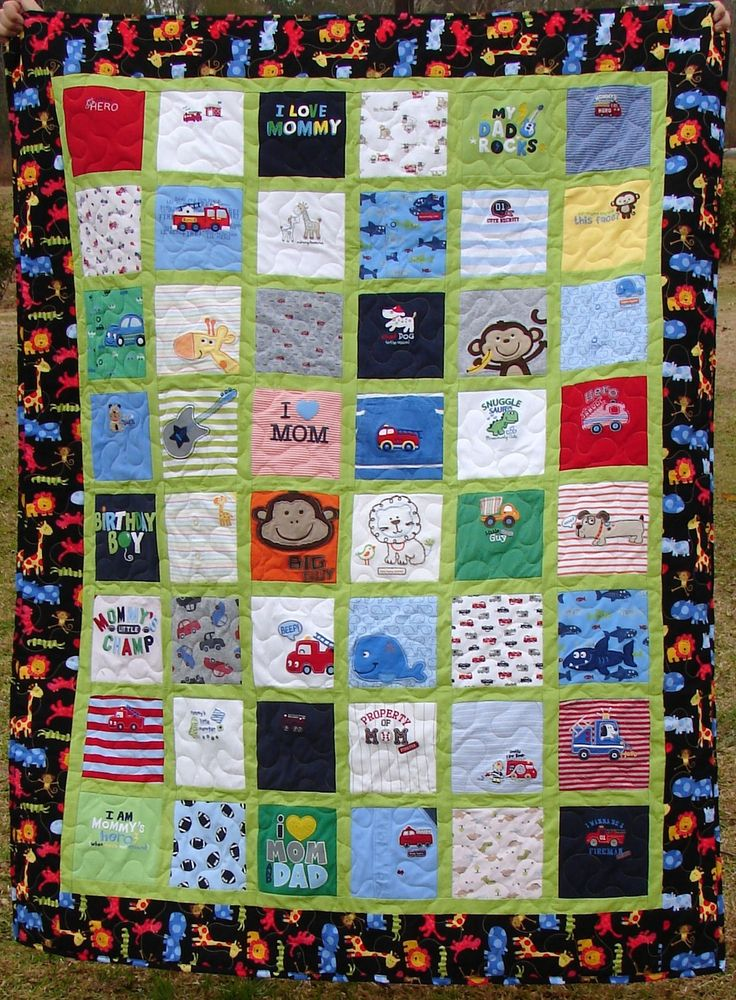 Baby Clothes Memory Quilt -Made to Order-6x8 layout. $230.00, via Etsy.