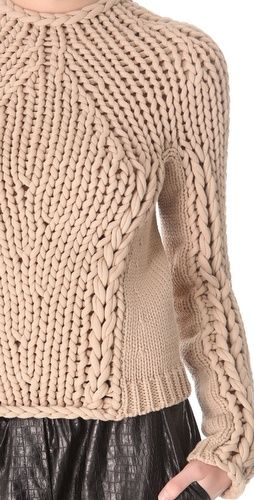 Seamless Hand Knit Pullover  apparel knit