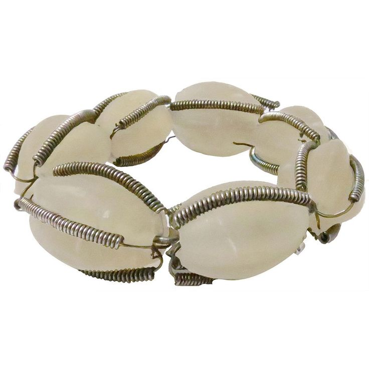 Park B. Smith Glass Beaded Napkin Ring 12-pk., Beig/Green (Beig/Khaki)