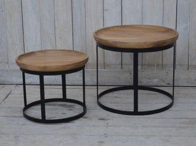 Set med två små brickbord