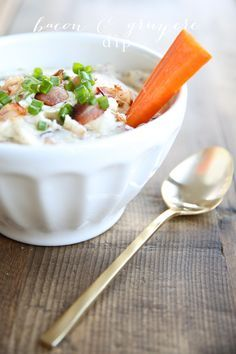 Bacon & Gruyere Cheese dip recipe - unbelievably good, unbelievably easy!