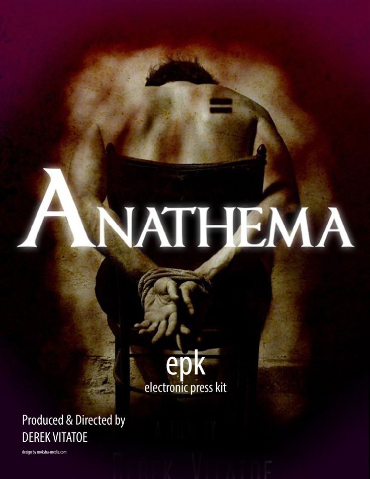 """Anathema"" Movie EPK Design for marketing ""Anathema"" Movie for film festivals and distribution, designed by Moksha Media of Dallas - Daymond E. Lavine"