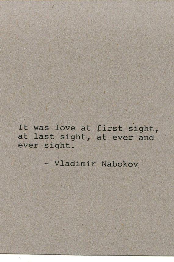 Vladimir Nabokov Quote Made on Typewriter by FlightOfFancyPrints