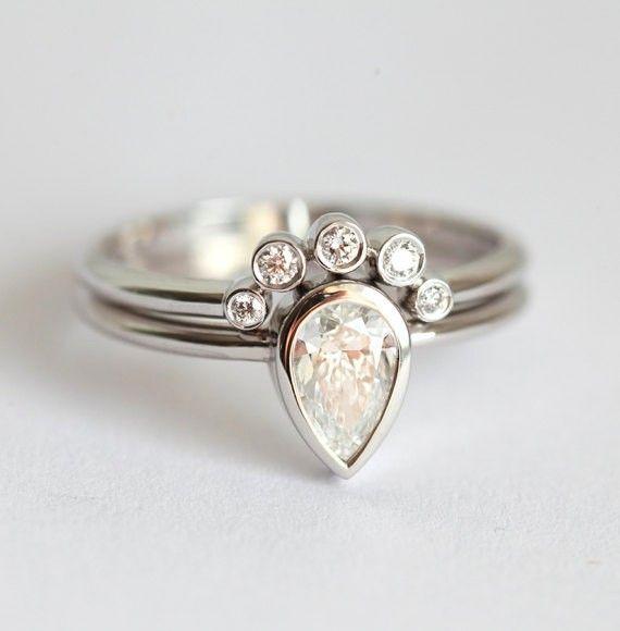 0.5カラットダイヤモンドセットリング◆エンゲージリング&マリッジリング (婚約指輪&結婚指輪) 指輪・リング Capucinne ハンドメイド通販・販売のCreema