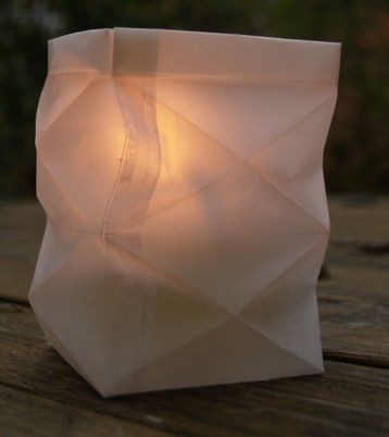 Knickwindlicht aus Transparentpapier  - mit Anleitung , Din A5
