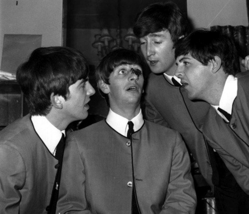 The Beatles. Um Ringo, you have a spider on your nose!!!