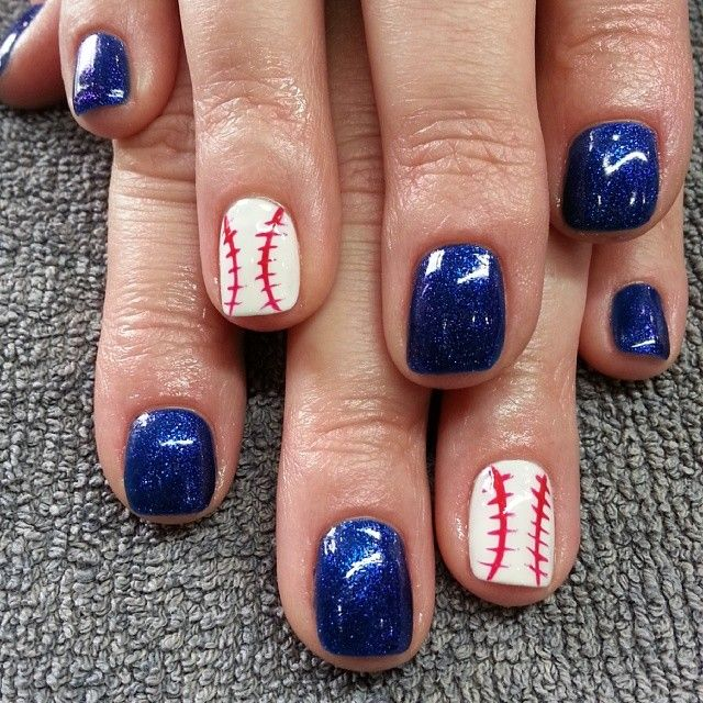 25 beautiful baseball nail designs ideas on pinterest softball brewers nails prinsesfo Images