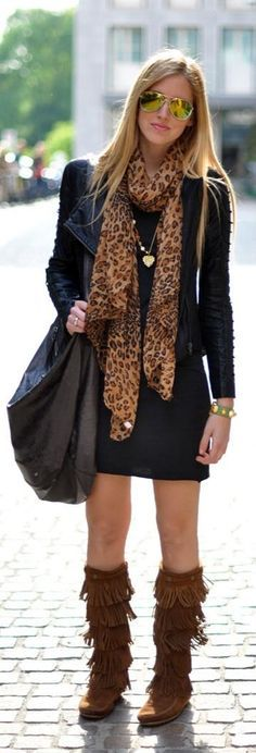 fringe boots outfits - Google Search