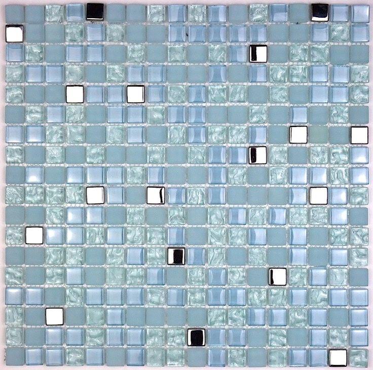 Carreaux mosaique de verre salledebain et douche harris-bleu  9,50 €  Surface. M2: 0,09, Couleur: Bleu, Taille des carreaux: 1,5 cm x 1,5 cm, Aspect: verre et inox miroir, Poids: 1 kg, Materiaux: verre et inox miroir, Hauteur: 30 cm, Quantité: 1 plaque, Epaisseur: 8 mm, taille plaque: 30 x 30 cm, Longueur: 30 cm