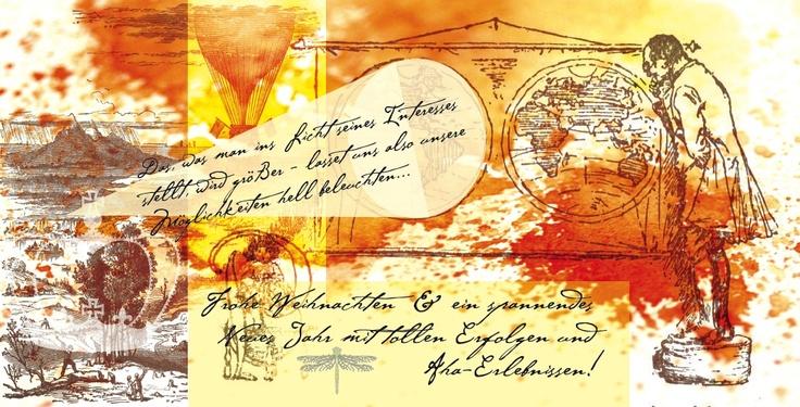Im Licht des Interesses, im Zentrum des Bewusstseins, zwischen den Polen und mitten im Fluss des Leben. #Frohes Fest