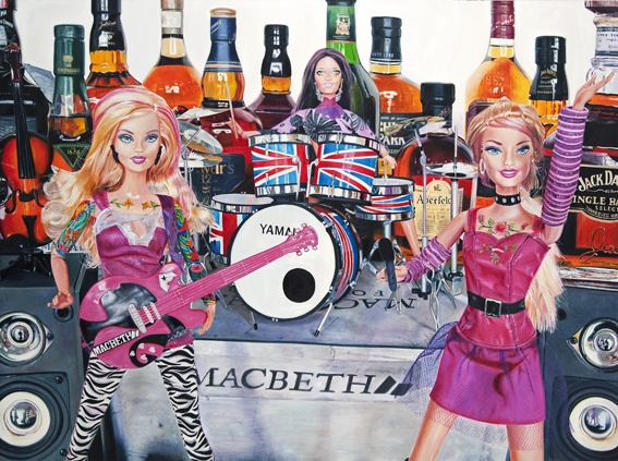 'my dolls rock n roll' 150x200cm oil on canvas 2011