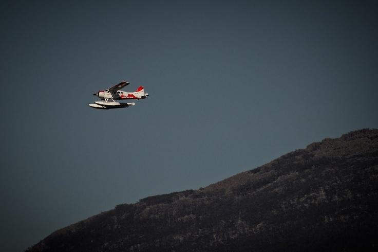 Seaplane by Mount Wellington.