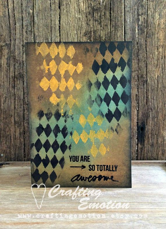 Handmade Masculine greeting card, Father's Day card.  by Crafting Emotion