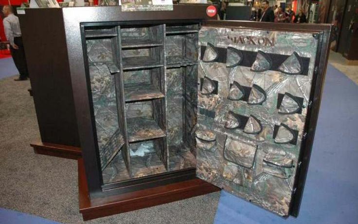 The Stack On Buck Commander 60 Gun Safe Has A Full Realtree Xtra Interior For Style Shot Show