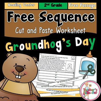 Here is a fun little FREEBIE to use for Groundhog's Day! This Freebie includes a reading passage to read about Mr. Groundhog. Students cut the 5 sentence strips at the bottom of the passage and paste them in sequential order. This worksheet is labeled for 2nd graders, but 1st and 3rd graders can also take advantage.