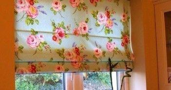 Самодельные римские или японские шторы