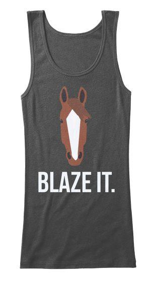 Blaze It Black Women's Tank Top Front