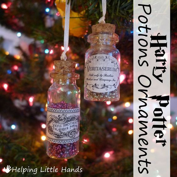 Harry Potter Potions Christmas ornaments how cute!
