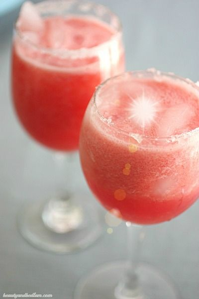 Festive color for the holidays. Watermelon Margarita (with or without alcohol)