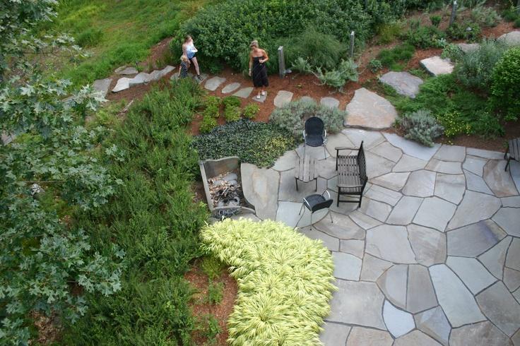 Beautiful Irregular Bluestone Patio | Construction Portfolio | Pinterest | Bluestone  Patio, Mulches And Blue Stones