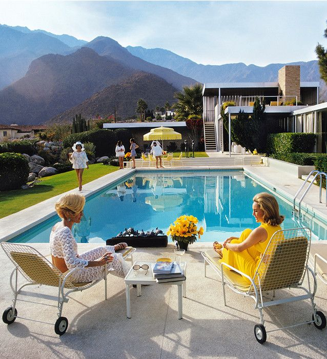 """Poolside Gossip"" Slim Aarons                                                                                                                                                     More"