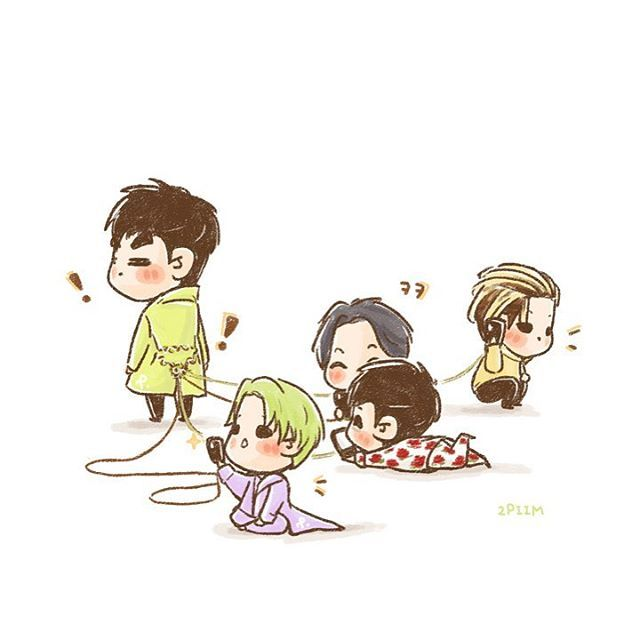 ‪[fanart] #TOP and the boys ⚡️⚡️‬