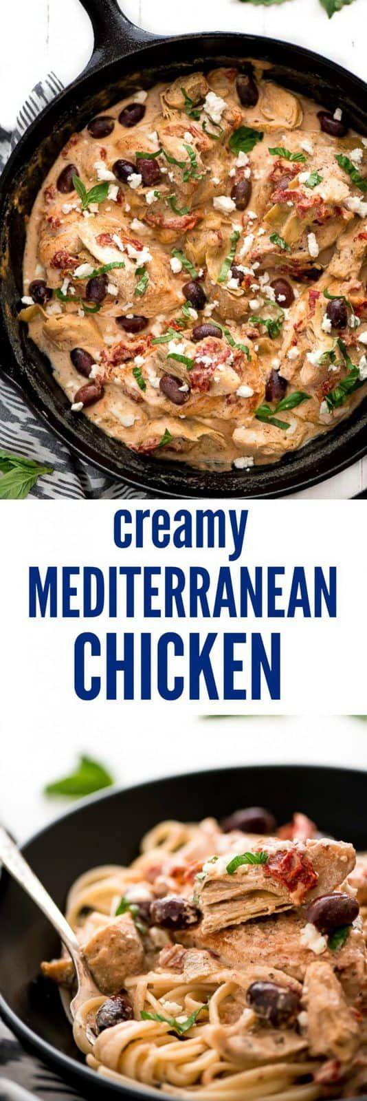 Cremiges mediterranes Hähnchen   – Recipes