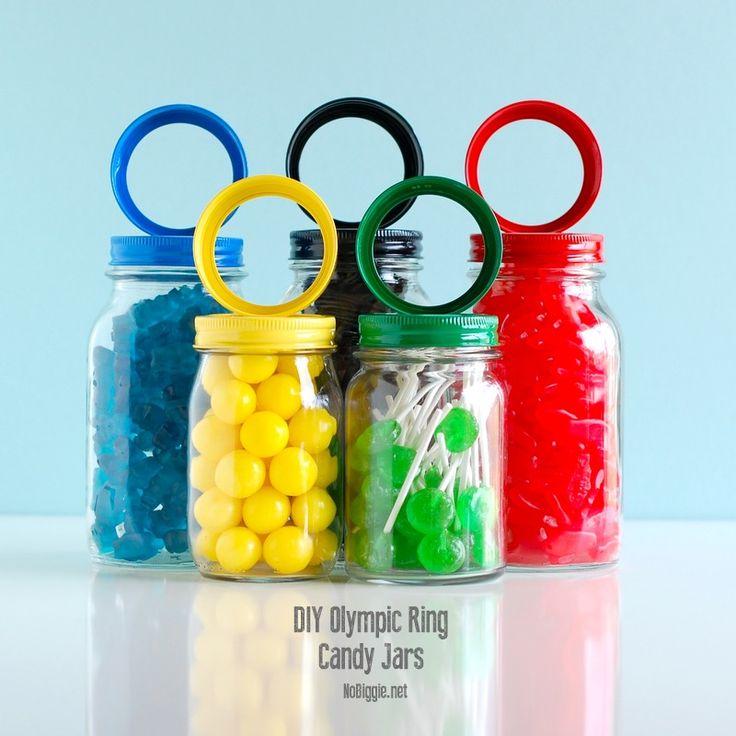 DIY Olympic Rings Candy Jars | NoBiggie.net