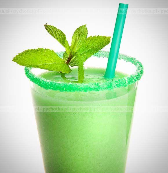 Składniki: ½ litra wódki 1 szklanka syropu miętowego woda mineralna...