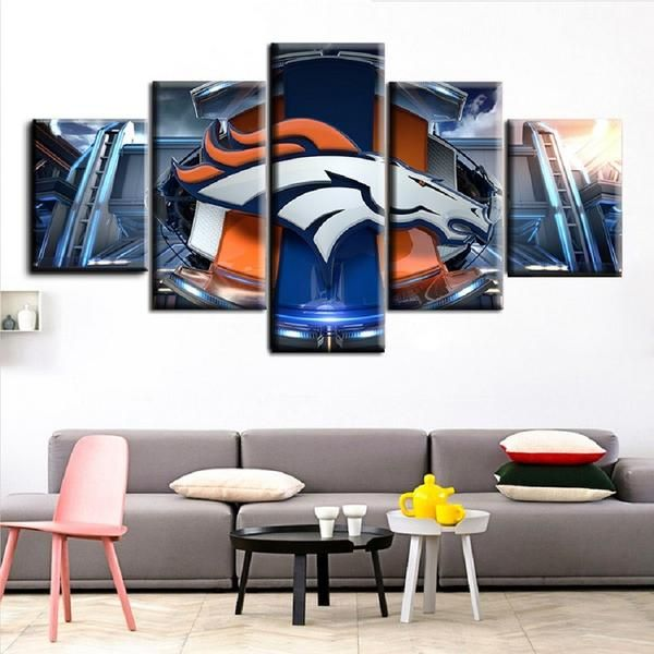 If you are a fan of the Broncos you will absolutely love this New 5 Piece HD Broncos Picture Print On Canvas Wall Art. Will make a Great Gift for any Broncos Fan and The Perfect addition to any Man Cave Not available in stores Only available for a LIMITED TIME, so get yours TODAY! High Quality Prints that come In 2 different sizes and can be purchased Framed or Unframed.  Item: HD Printed Canvas  Material: Canvas printed with high quality Linen/Cotton. Size's(5 pieces canvas):  Small: 2…