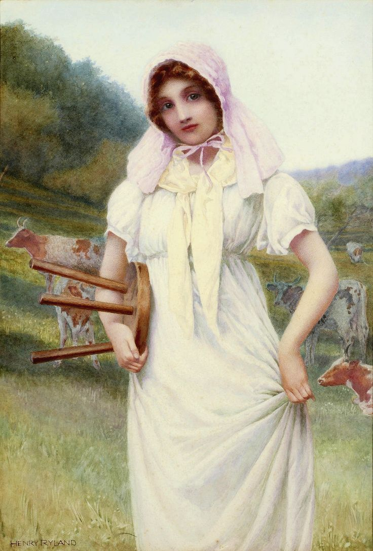 Henry Ryland Pre raphaelite, Victorian art, Global art