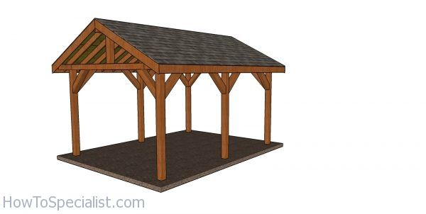 12x16 Backyard Pavilion Free Diy Pavilion Howtospecialist How To Build Step By Step Diy Plans In 2020 Backyard Pavilion Pavilion Plans Diy Plans