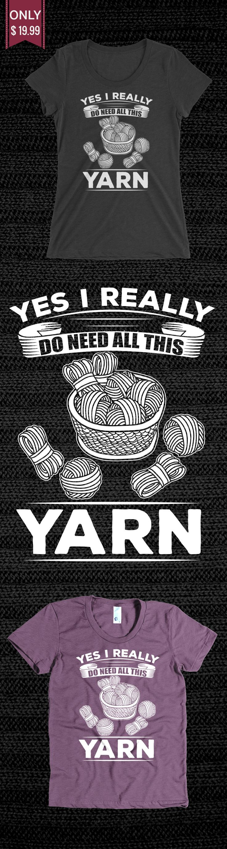 Funny Knitting Shirt Yarn - Check out this Limited Edition T-Shirt! You will not find anywhere else. Available in other colors too. Not sold in stores! Grab yours or gift it to a friend, you will both love it
