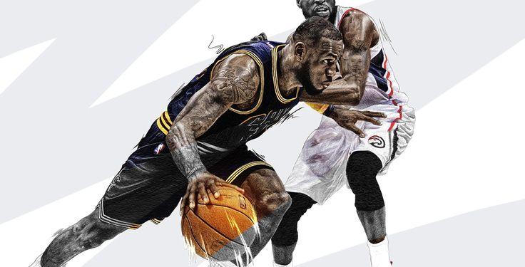 Lebron James illustration, NBA by Adolfo Correa