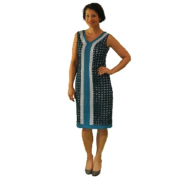 New to the collection and available on the Hard to Find website is this Teal Airplane cut out dress.